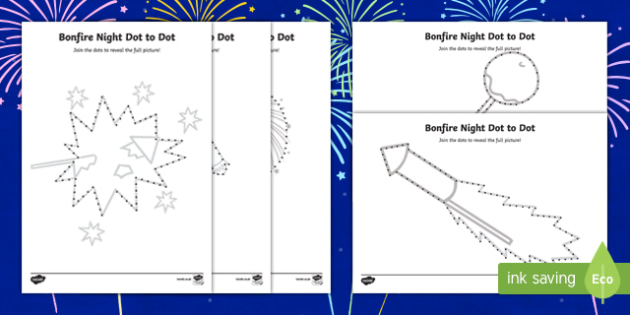 Bonfire Night Dot to Dot Activity Pack