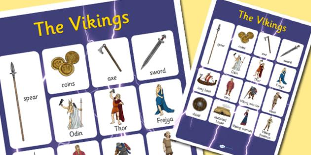 Vikings Vocabulary Poster - vikings, vocabulary, poster, display