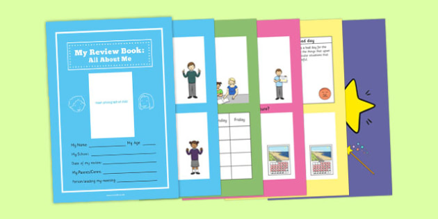 All About Me Book for Person Centred Review Primary - all about me, book, person, centred, primary