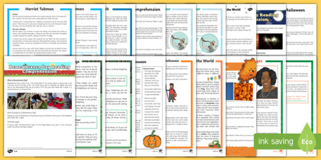 Autumn Term Differentiated Reading Comprehension Bumper Resource Pack