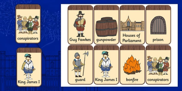 The Gunpowder Plot Flashcards - Gunpowder, Guy, Fawkes, Bonfire