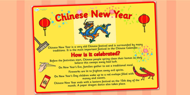 A2 Chinese New Year Large Information Display Poster - new year
