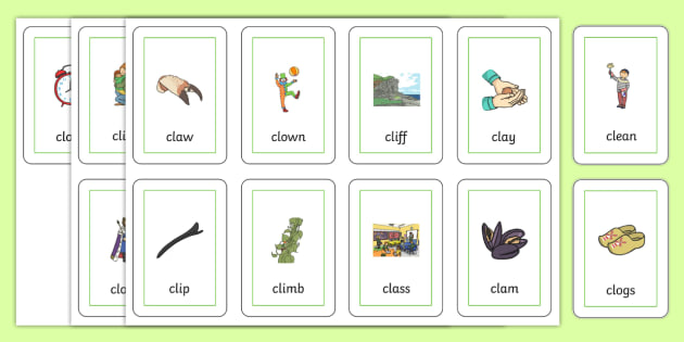 CL Flash Cards - cl, flash cards, flash cards, sen, sounds, cl sound, speech, language