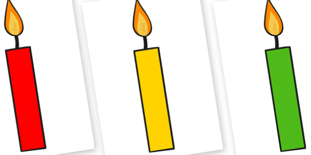 Editable A4 Multicoloured Candles Plain - editable, image, editable image, multicoloured candles, candles, candles for display, display images of candles, editable picture, editable display image, display, display picture