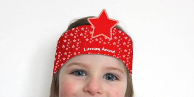 Literacy Award Headbands - literacy, literacy award, awards