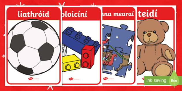 The Toy Shop Display Posters Gaeilge - An Siopa Bréagán, Irish, toy, christmas, nollag, an nollaig, toys, shopping
