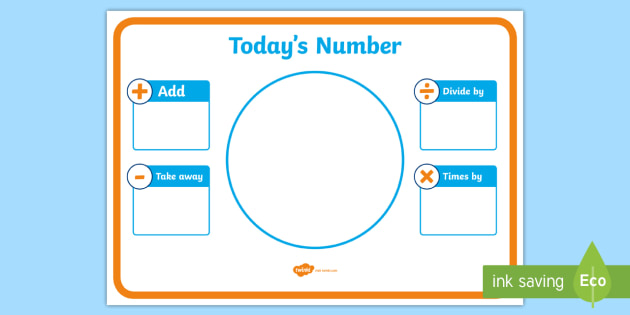 Today's Number Display Poster - today's number, display poster, display, poster, today, number