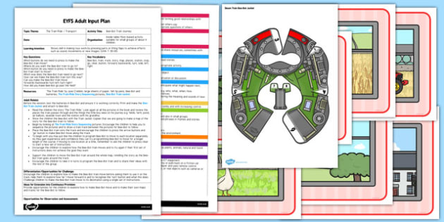 Bee Bot Train Journey EYFS Adult Input Plan and Resource Pack