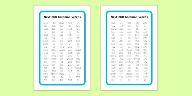 IKEA Tolsby Next 200 Common Words Alphabetical Prompt Frame - ikea tolsby, ikea, tolsby, prompt frame, prompt, frame, next 200, common words, alphabetical