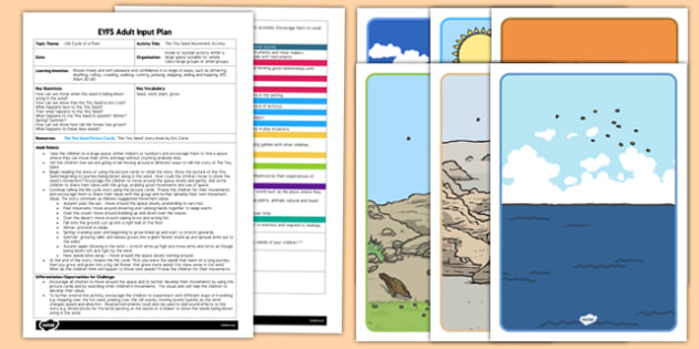 Movement Activity to Support Teaching on The Tiny Seed EYFS Adult Input Plan and Resource Pack
