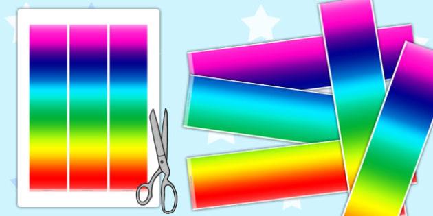 Rainbow Display Borders - rainbow, display borders, display, borders