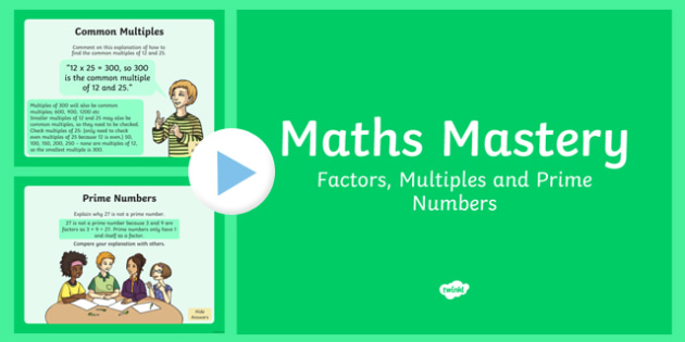Year 6 Calculation Factors Multiples Prime Numbers Maths Mastery Activities