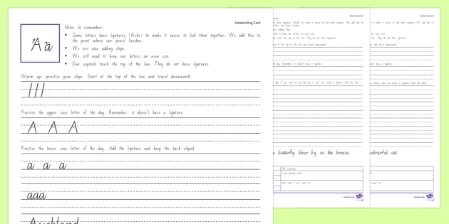 Year 3 & 4 New Zealand Handwriting Activity Sheets - New Zealand Handwriting Resources