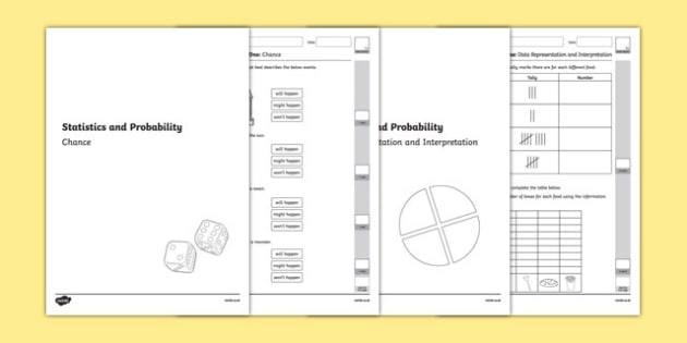 Year One Statistics and Probability Assessment Pack