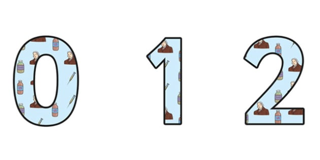 Edward Jenner Themed A4 Display Numbers - edward jenner, display numbers, themed number, classroom number, numbers for display, a4 numbers, numbers, a4