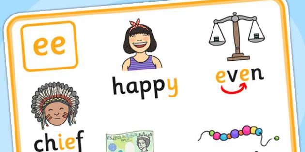 Alternative Spellings for ee Display Poster - alternative spellings for ee, display poster, ee display poster, alternative spelling for ee poster