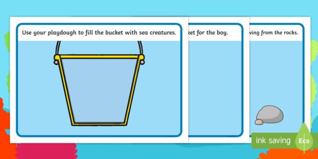 Sea Bucket Playdough Mats - sea bucket, billy's bucket, playdough mat, playdough, mat, activity