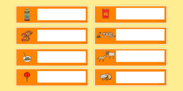 Chinese New Year Themed Editable Gratnells Tray Labels - chinese