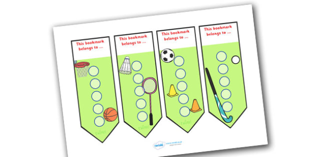 Sport Sticker Reward Bookmarks (15mm) - Sport Reward Bookmarks (15mm), reward bookmarks, sport, bookmarks, reward, 15mm, 15 mm, stickers, twinkl stickers, award, certificate, well done, behaviour management, behaviour, sport, sports, football, netbal