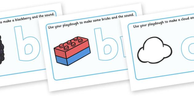 Letter Blends Playdough Mats - Playdough mat, playdough resources, letter blend, consonant, consonants, digraph, trigraph, A-Z letters, foundation stage literacy, literacy, alphabet, letters, playdough