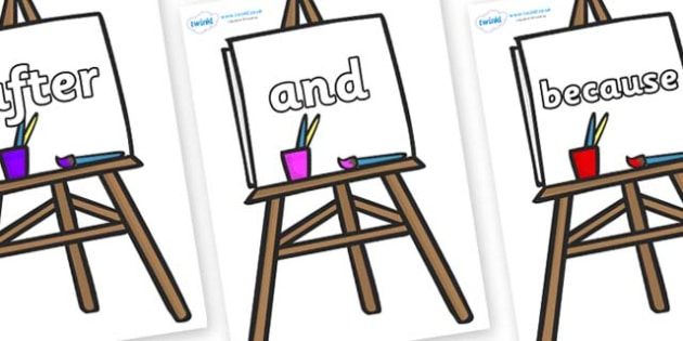 Connectives on Easel - Connectives, VCOP, connective resources, connectives display words, connective displays