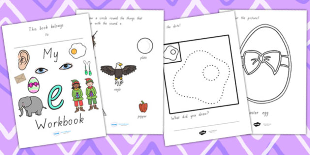 My Workbook E Lowercase Vic - letter formation, writing, tracing