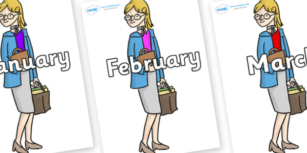 Months of the Year on Miss Honey to Support Teaching on Matilda - Months of the Year, Months poster, Months display, display, poster, frieze, Months, month, January, February, March, April, May, June, July, August, September