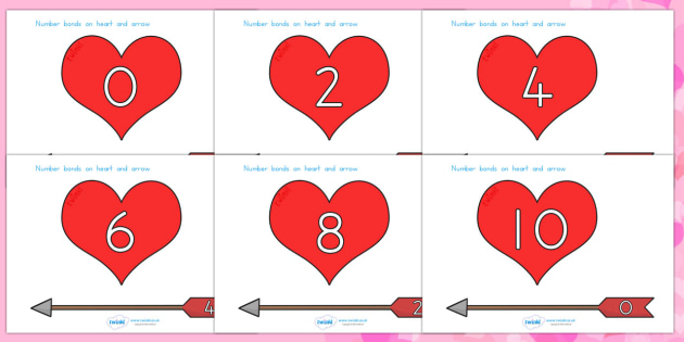 Valentine's Day Number Bonds To 10 Arrows and Hearts - valentines