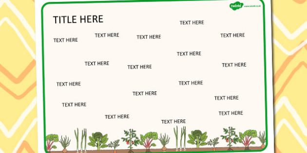 Plants and Growth Themed Editable Word Mat - literacy, writing