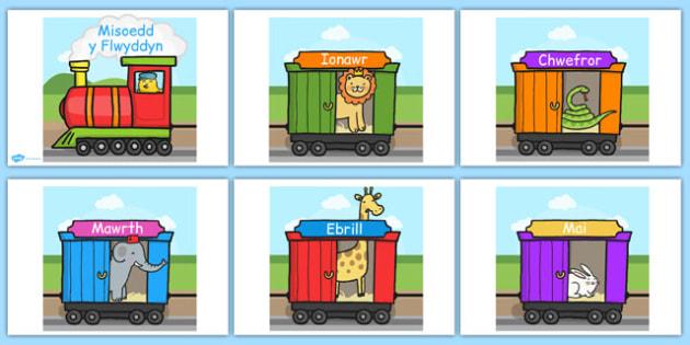 Months of the year on an A4 train Cymraeg - welsh, cymraeg, months, year, train, a4, display