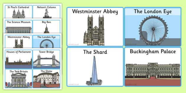 London Landmark Cards - london, landmark, cards, city, england
