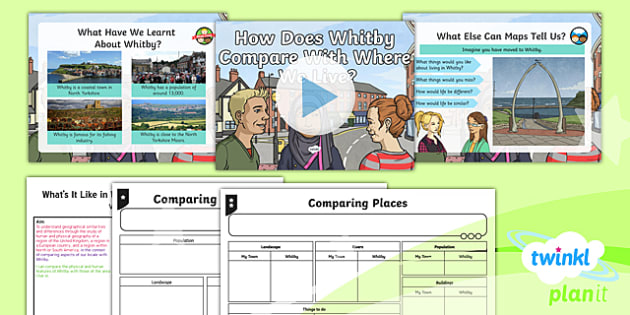 PlanIt Geography Y4 - What's It Like in Whitby Lesson 6 How Does Whitby Compare With Where We Live? Lesson Pack - geography, UK, compare, Whitby, contrasting, location, physical, human, coast, seaside