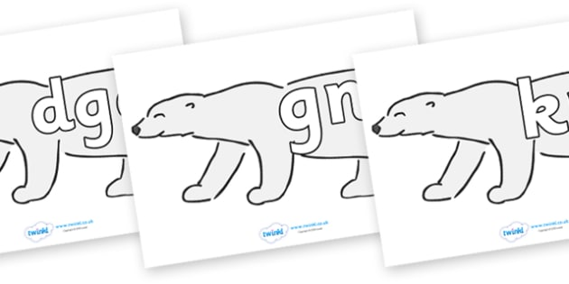 Silent Letters on Polar Bears - Silent Letters, silent letter, letter blend, consonant, consonants, digraph, trigraph, A-Z letters, literacy, alphabet, letters, alternative sounds