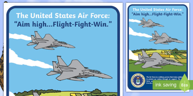 USA Air Force Display Poster