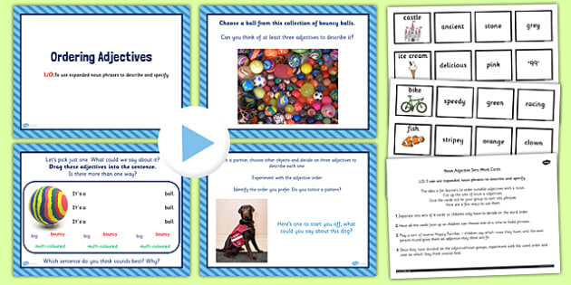 Year 2 Use Expanded Noun Phrases Lesson Ideas and Resource Pack