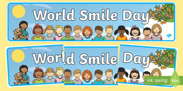 World Smile Day Display Banner