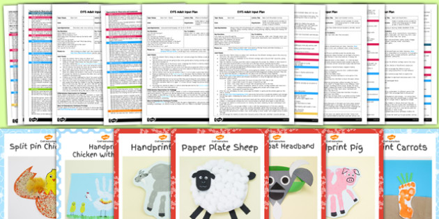EYFS Farm Themed Craft Activities with Accompanying Planning Pack