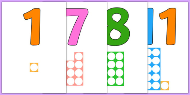 Numbers With Number Shapes 0-20 Display - numbers, number shapes, 0-20, display