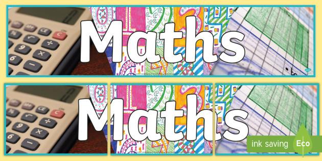 Maths Photo Display Banner - math, photo display banner, display banner, display, banner, photo banner, header, display header, photo header, photo, numeracy