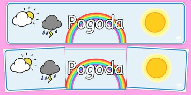 Banner na gazetkę Pogoda po polsku - przedszkole, początkowa