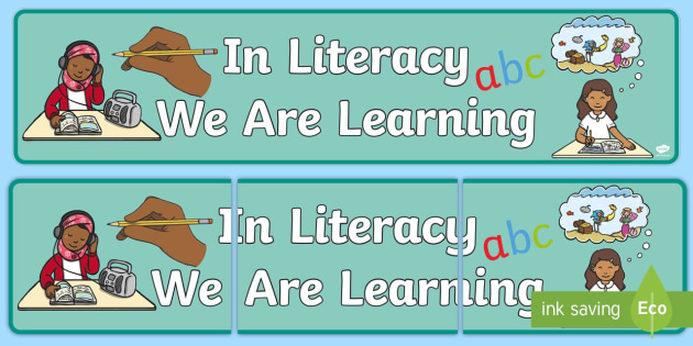 In Literacy We Are Learning How To Banner - literacy, englsih