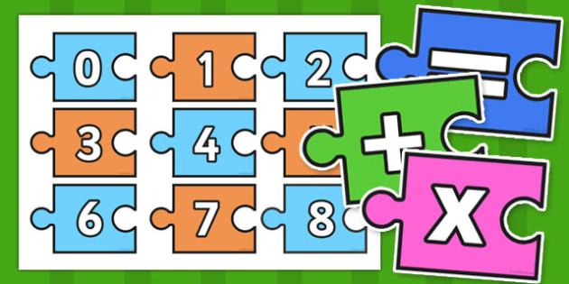 0-100 Calculation Jigsaw - calculation, jigsaw, 0-100, puzzle