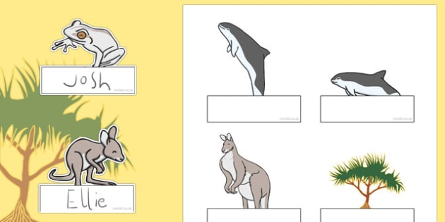 The Kangaroo and the Porpoise Editable Self Registration - australia, dreamtime, story, aboriginal, the kangaroo and the porpoise,