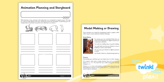 Computing: Animation Year 4 Unit Home Learning Tasks