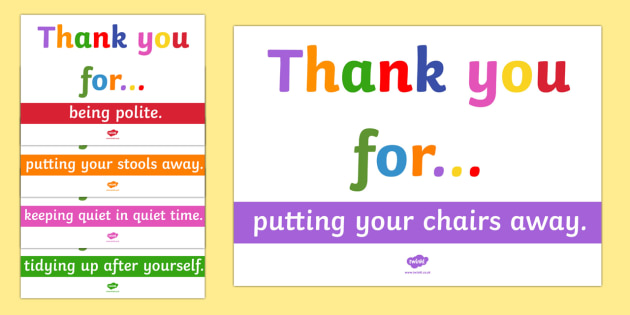 Thank You Poster Pack - thank you, poster, pack, display pack