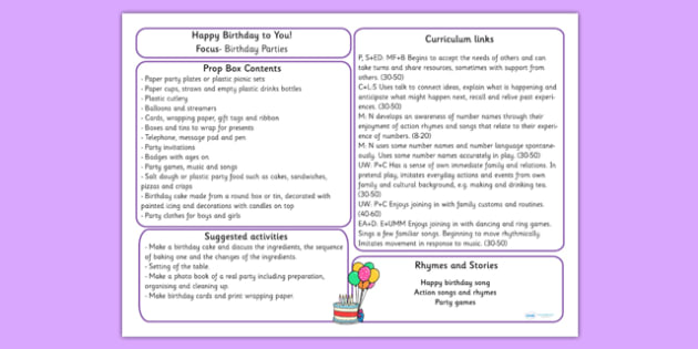 Happy Birthday to You Prop Box Plan - birthday, birthday roleplay