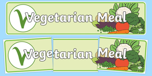 Vegetarian Meal Display Banner - vegetarian meal, meal, veggie, vegetarian, display banner, display, banner