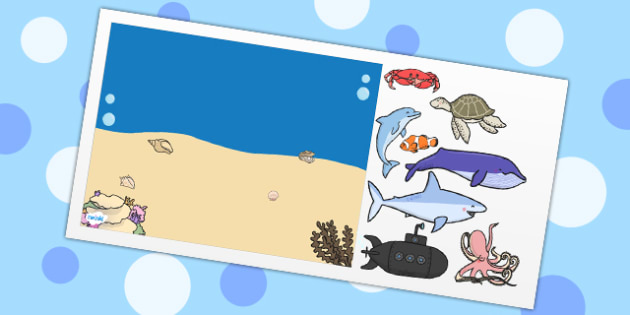Under the Sea Themed Editable PowerPoint Background Template - under the sea, editable powerpoint, powerpoint, background template, themed powerpoint, edit