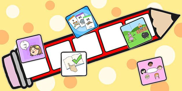 Reading Pencil Targets - pencils, target, read, aims, goals
