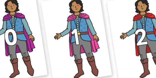 Numbers 0-31 on Prince - 0-31, foundation stage numeracy, Number recognition, Number flashcards, counting, number frieze, Display numbers, number posters